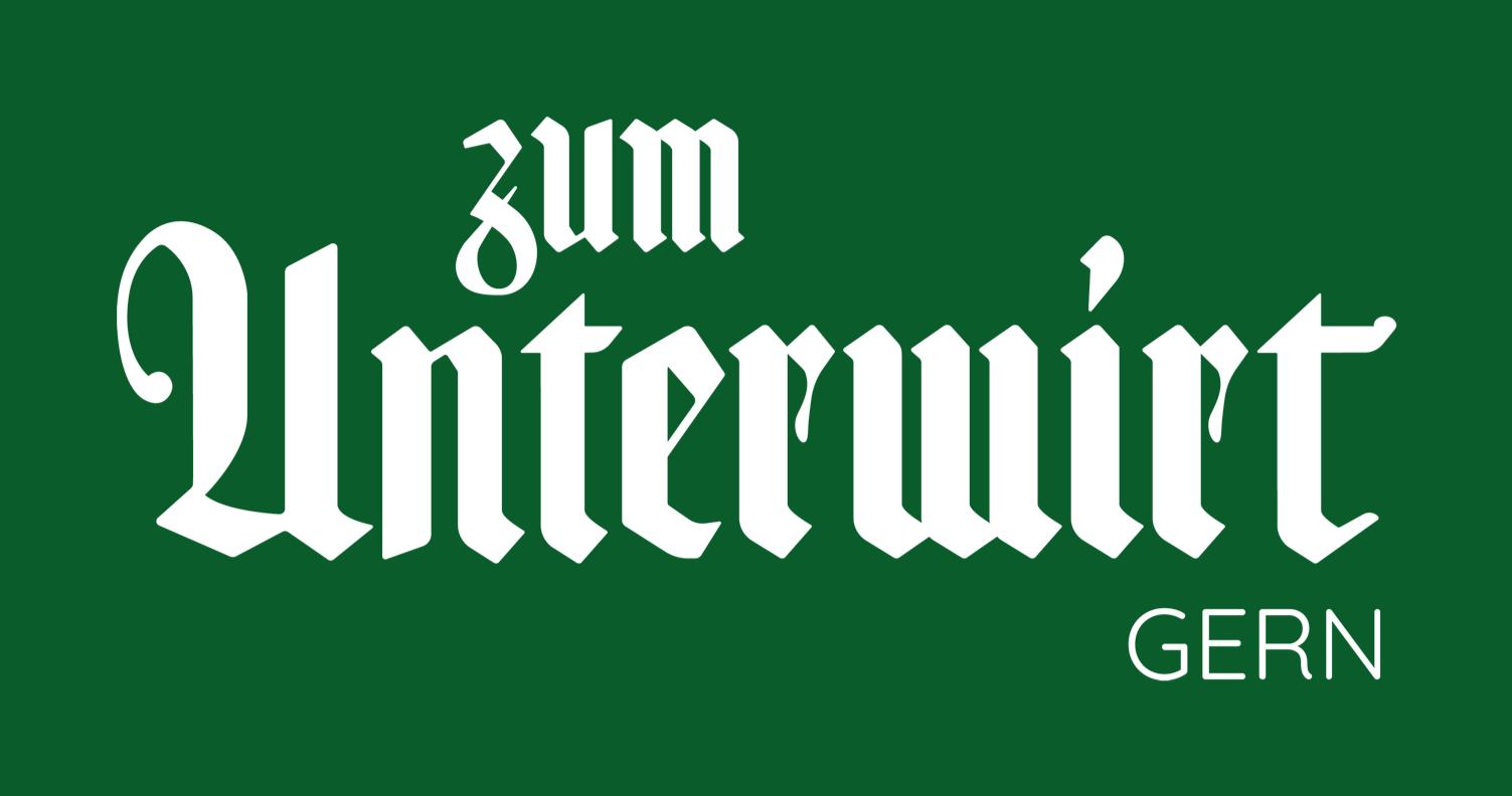 Unterwirt Typo Logo